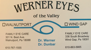 Werner Eyes of the Valley at Walnutport and Wind Gap